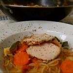 "Spaghetti en Wok con verduras y lomo de ""orza"""