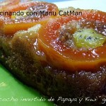 "Bizcocho invertido de papaya y kiwi ""gold"". WHOLE KITCHEN"