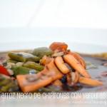 Arroz negro de chipirones y verduras