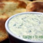 Tzatziki (τζατζίκι) y su pan de pita (πίτα)