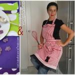 Pastel de chocolate y mousse de violetas