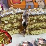 Wiener Punschkrapfen enrobés à la mousse de chocolat [bocaditos de ron con mousse de chocolate]