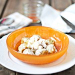 Gnocchi integrales de Calabaza y salsa de quesos en 2 texturas