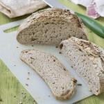 Pan integral con pipas de girasol. Receta