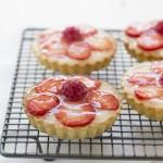 Tartaletas de fresa y frambuesa. Receta #rednoseday
