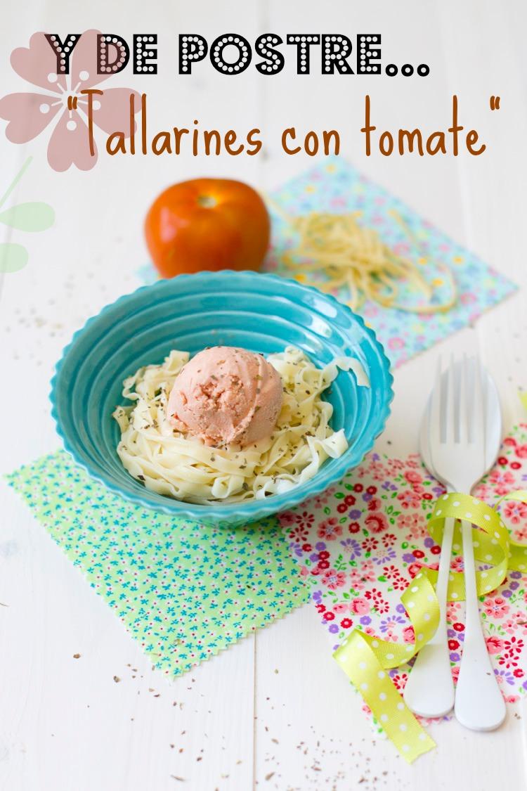 tallarines con tomate dulces