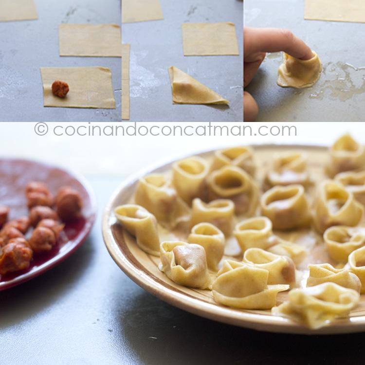 tortelini paso a paso
