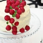 Tarta de ganache chocolate blanco y frambuesas. Receta