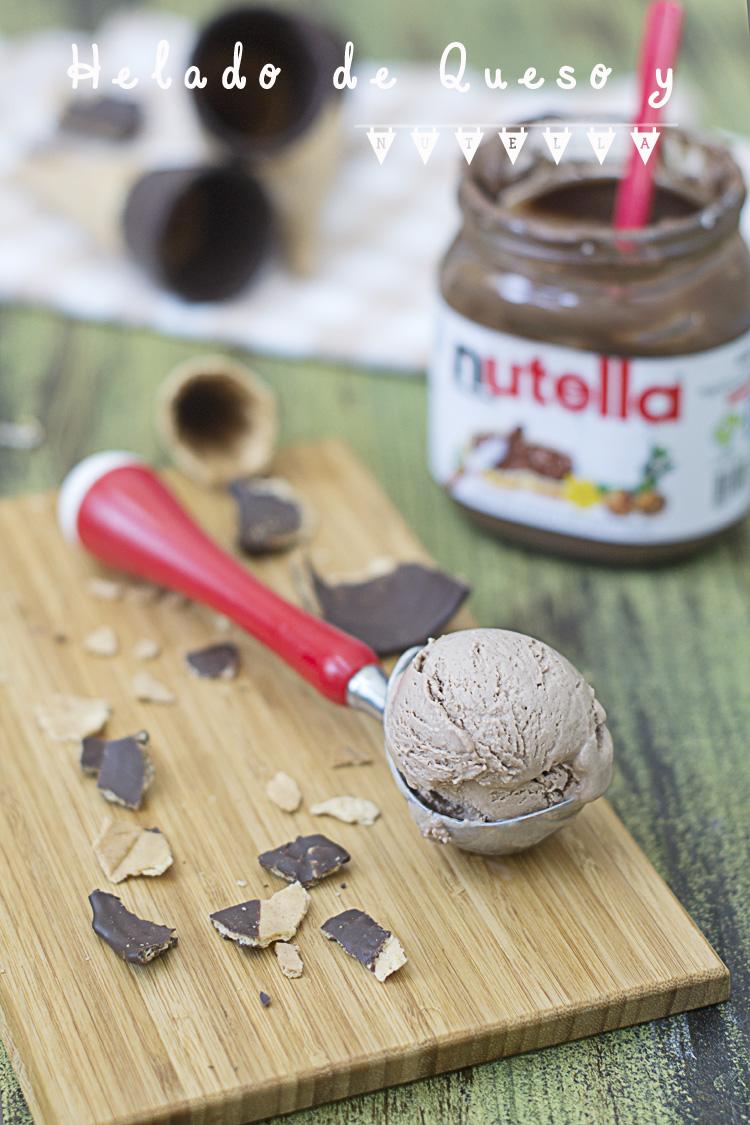helado de queso y nutella