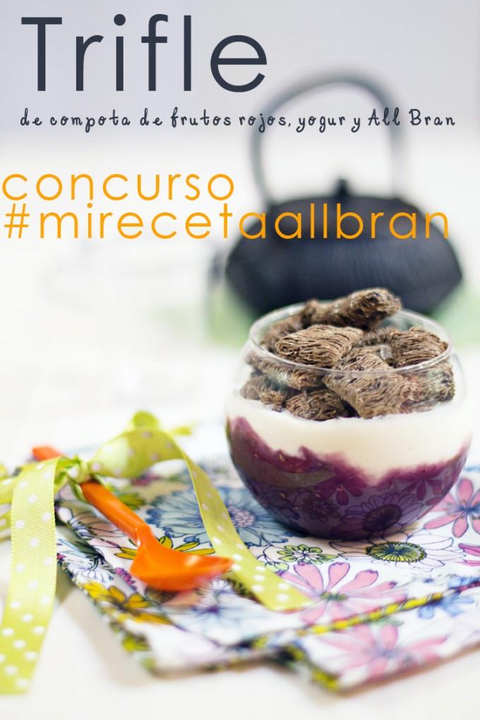 trifle compota de frutos rojos-yogur-allbran