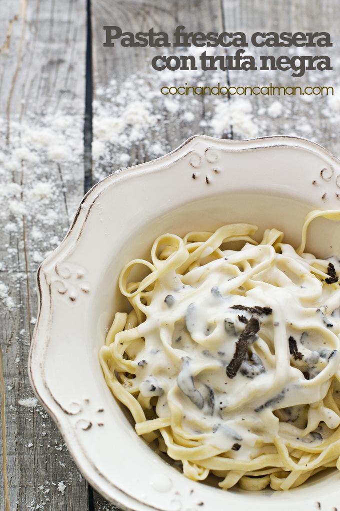 pasta fresca casera con trufa