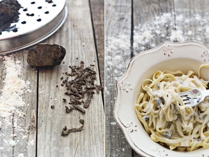 pasta fresca con trufa collage