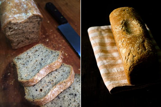 pan de aceitunas corte