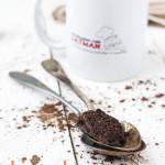 bizcocho al microondas portada 150x150 Trufas heladas de chocolate y aceite de oliva con sal, sticks de manzana y gelatina de pimiento rojo y frambuesas