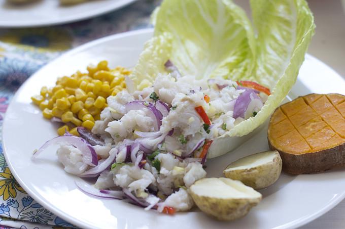 ceviche peruano de bacalao