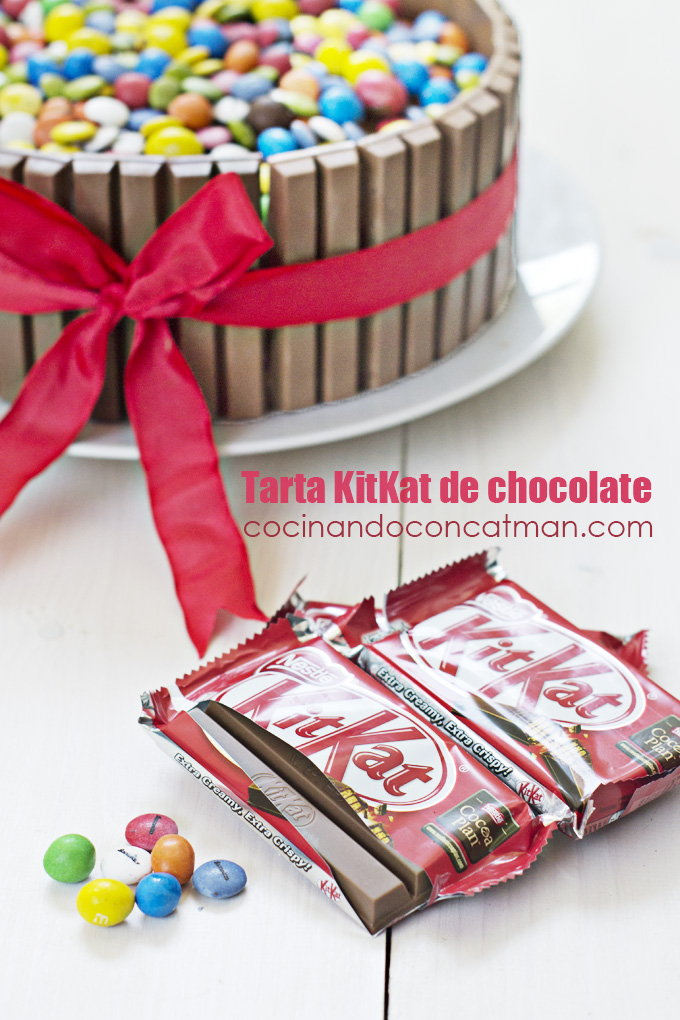 tarta kitkat de chocolate y nutella