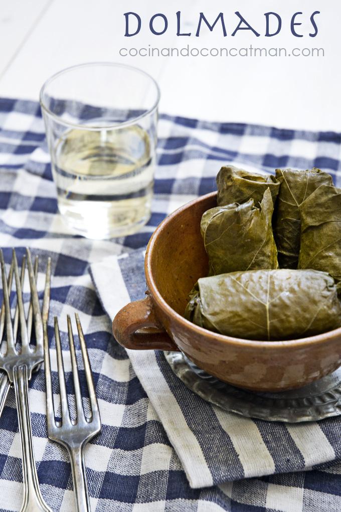 receta griega de dolmades