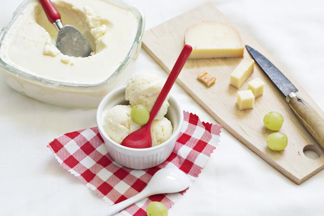 helado de queso de mahón