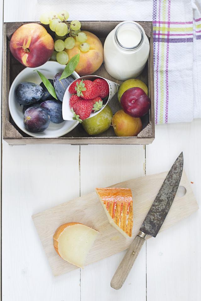 bodegon de sopa de vainilla y frutas