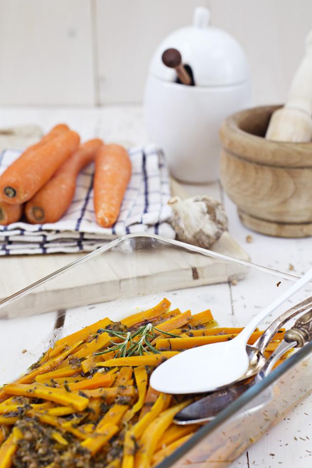 receta de zanahorias marinadas a la griga