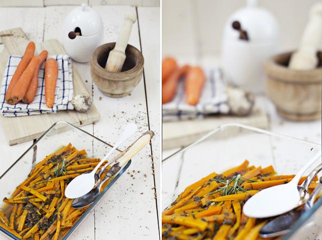 zanahorias a la griega, un marinado exquisito