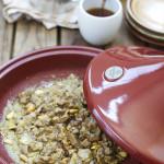 Tajine de cordero con berenjenas, miel y frutos secos