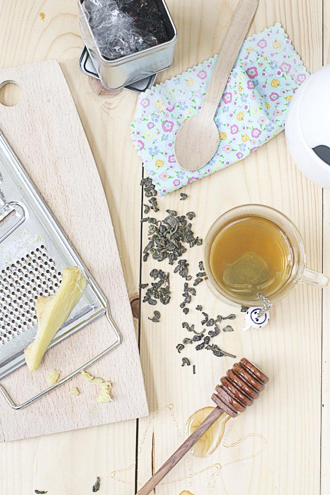 receta de te con jengibre y miel