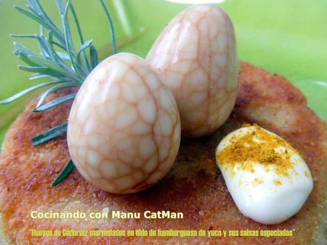 huevos marmolados