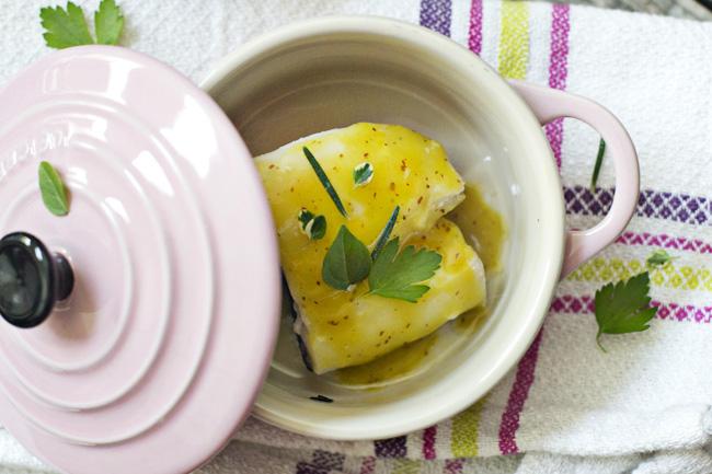 receta de bacalao con salsa de mostaza y miel