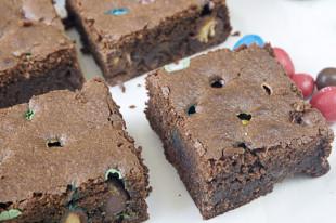 receta de brownie con m&m´s