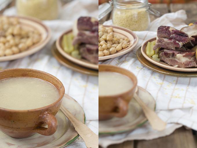 sopa de cocido de jamón