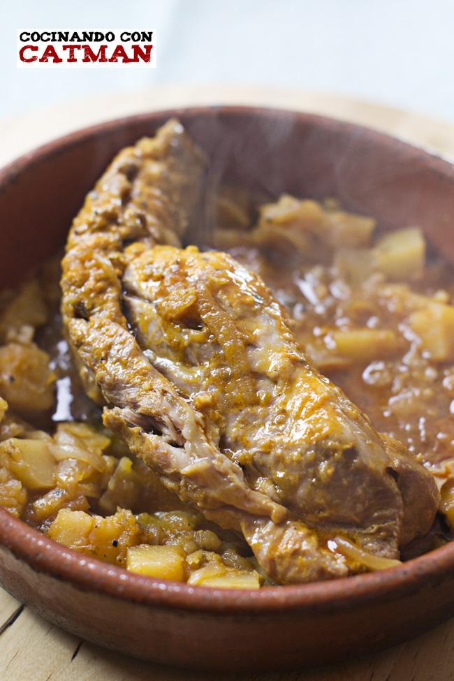 solomilloo de cerdo guisado con salsa barbacoa