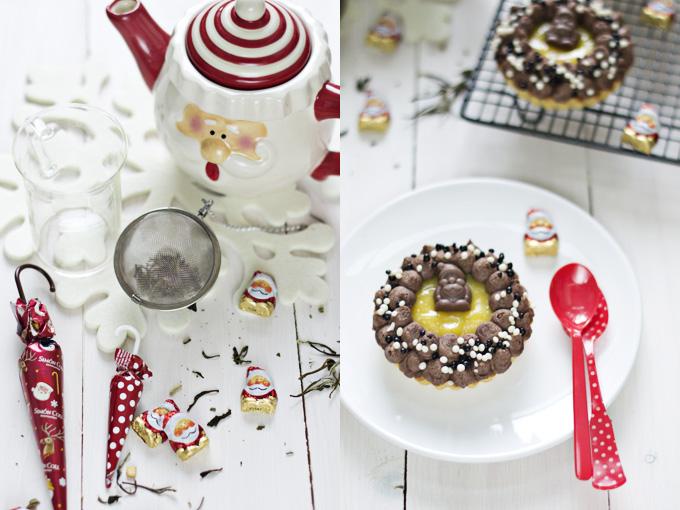 Tartaletas de chocolate y naranja para navidad