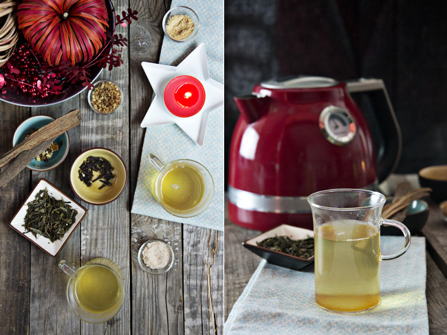 té verde de Navidad
