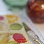 Turrón de frutas confitadas