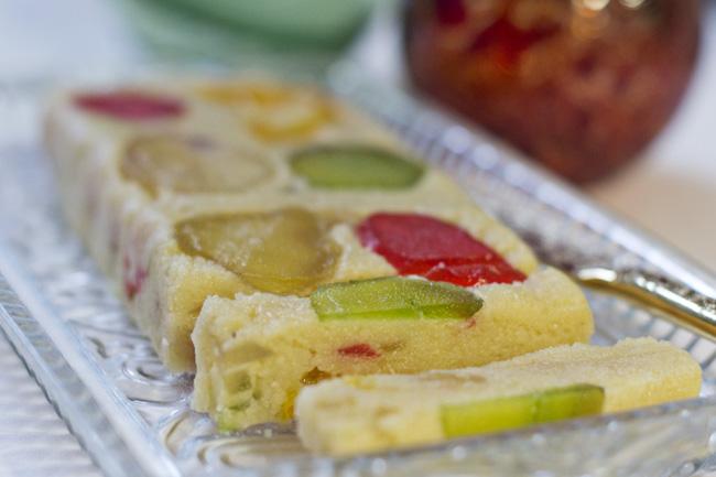 receta de cómo hacer turrón de frutas confitadas