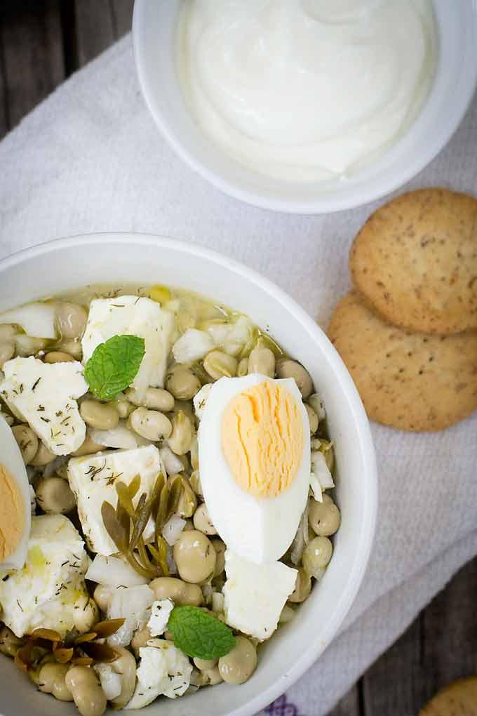 Ensalada de habitas griega zenital cocinando con catman - Ensalada de habitas ...