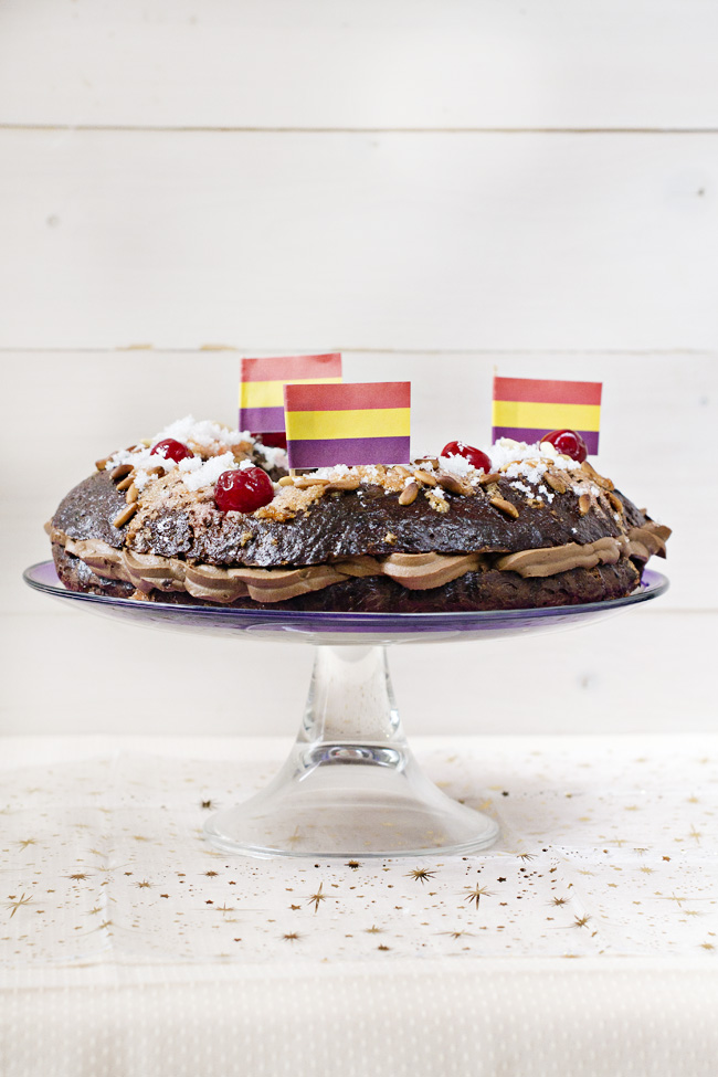 receta de roscón de reyes de chocolate