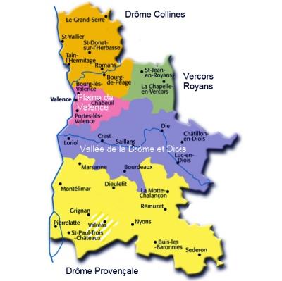 mapa de Drôme