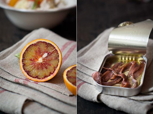 ensalada de naranja sanguina y anchoas ingredientes