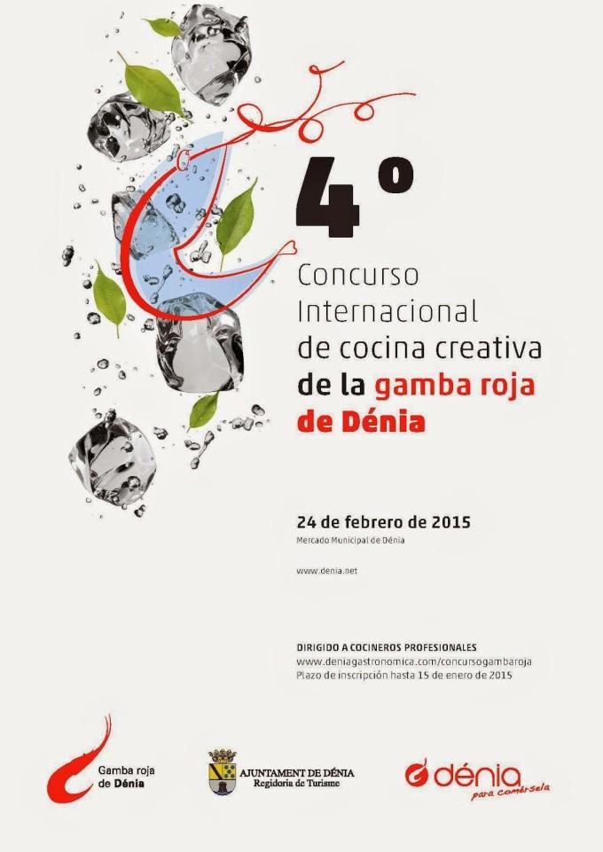 Cartel del IV concurso internacional de cocina creativa con Gamba Roja de Dénia