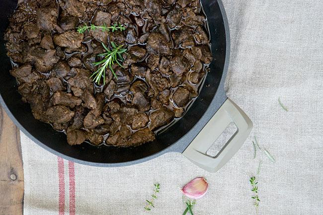 receta de cómo hacer carne de monte