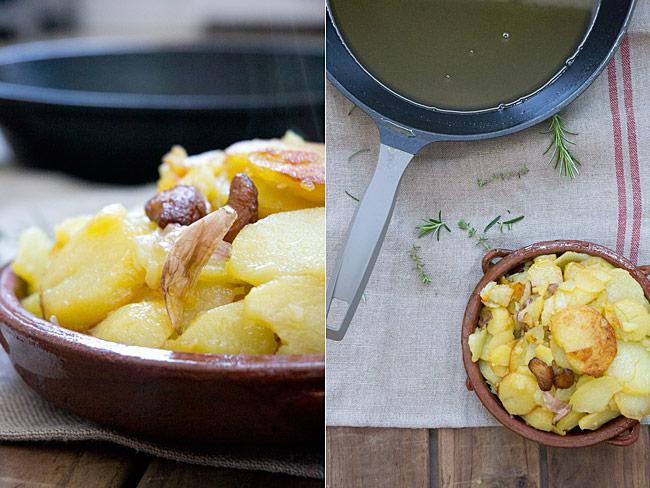cómo hacer patatas al montón , patatas al pelotón o papas a lo pobre