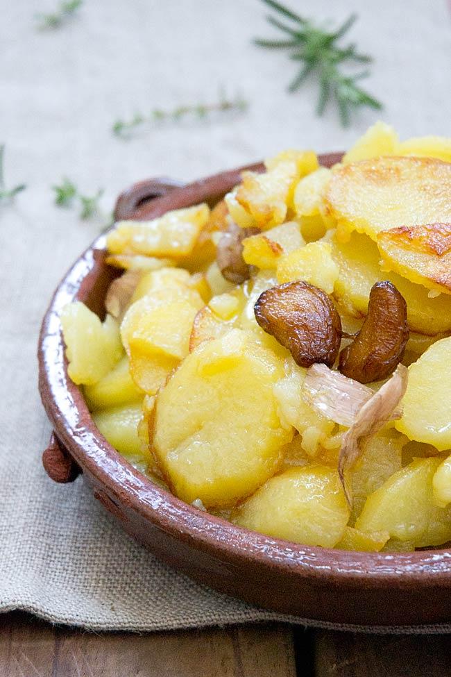 receta de patatas al pelotón