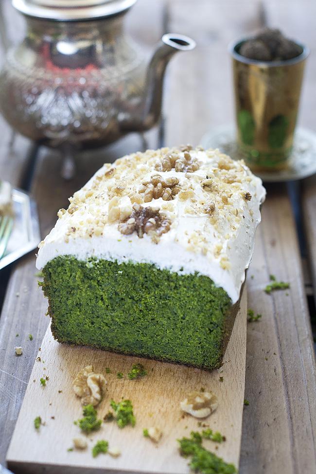 Ispanakli kek, biscocho dulce de espinacas
