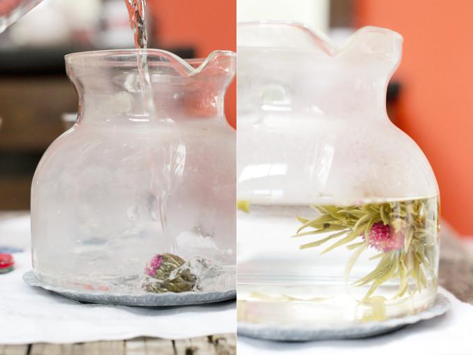 cómo preparar flores de té
