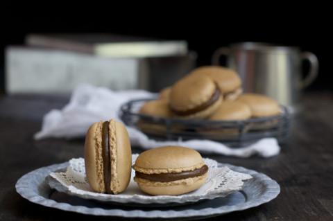 receta de cómo hacer macarons de caramelo salado