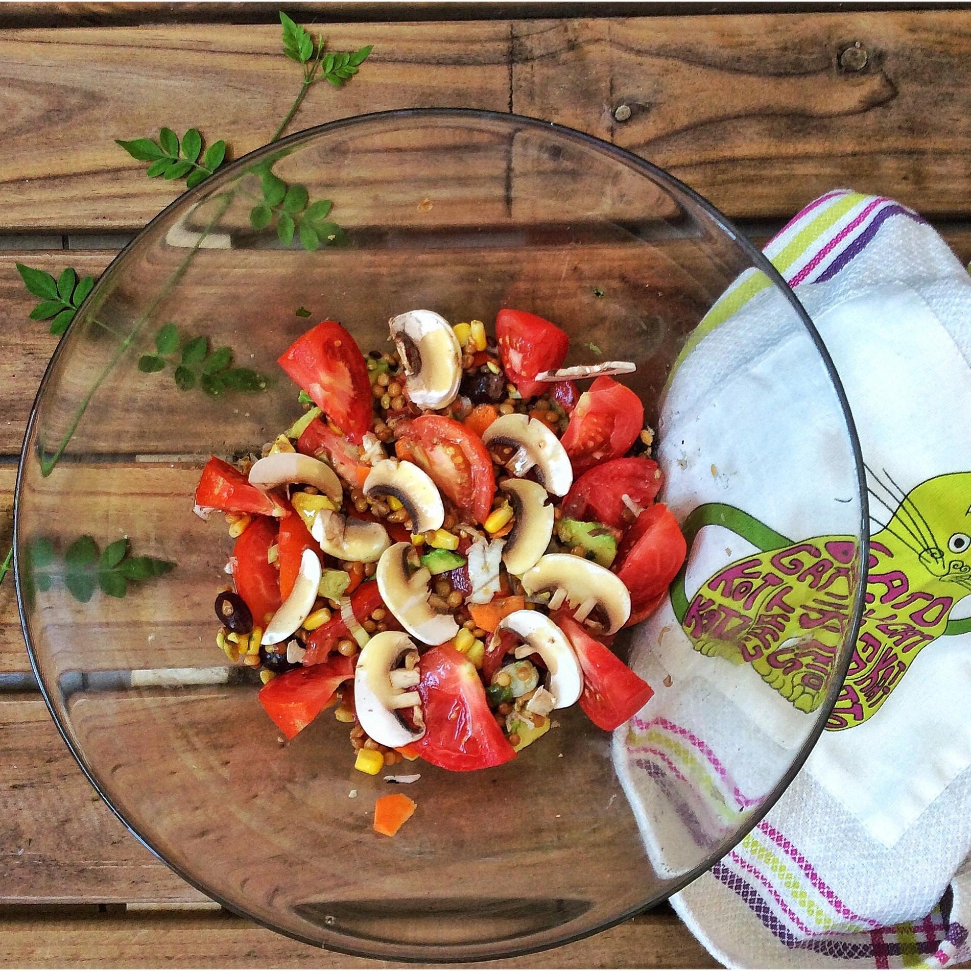 Ensalada De Lentejas Para Verano Cocinandoconcatmancom