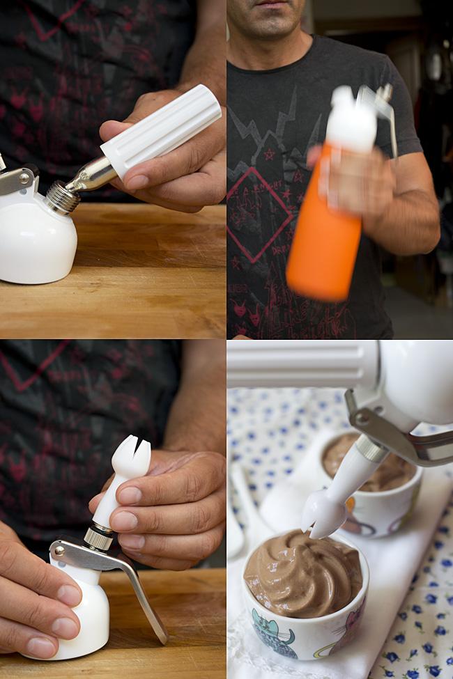 como usar un sifon de cocina paso 1