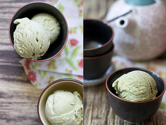 receta de helado de te matcha